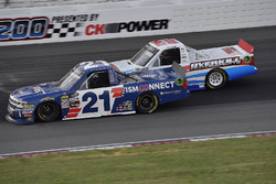 Johnny Sauter, GMS Racing, Chevrolet Silverado ISM Connect and Tate Fogleman, Young's Motorsports, Chevrolet Silverado Randco/Young's Building Systems