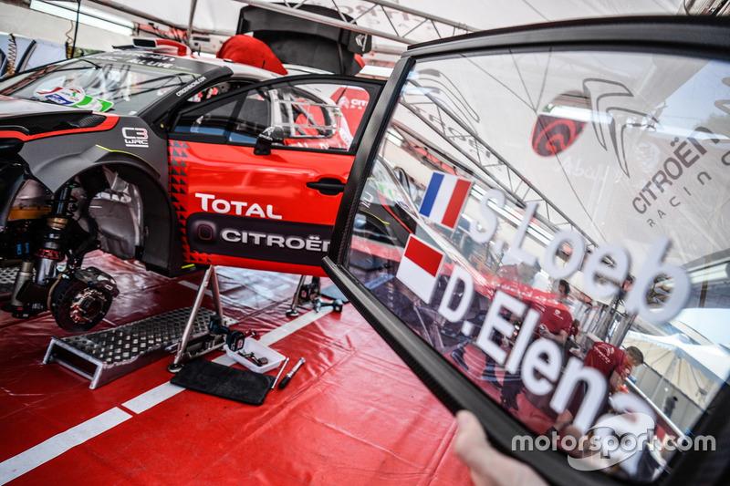 The car of Sébastien Loeb , Daniel Elena, Citroën World Rally Team Citroën C3 WRC