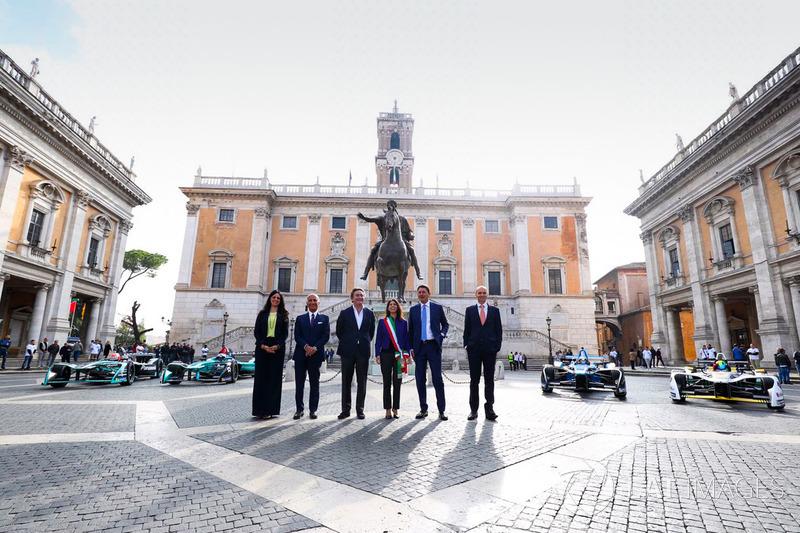 La presentación de la Fórmula E en Roma