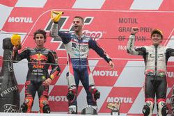 Podio: il vincitore della gara Romano Fenati, Snipers Team, il secondo classificato Niccolo Antonelli, Red Bull KTM Ajo, il terzo classificato Marco Bezzecchi, CIP-Unicom Starker