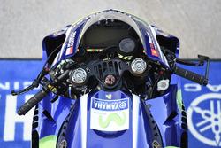 Bike von Valentino Rossi, Yamaha Factory Racing: Lenker und Dashboard
