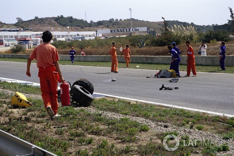 Kecelakaan Martin Donnelly, Team Lotus, pada GP Spanyol 1990