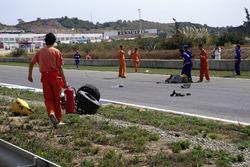 Мартин Доннелли, Lotus 102, авария