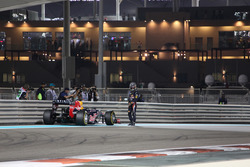 Sebastian Vettel, Red Bull Racing RB8 stops on the circuit