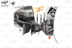 Sauber C37 diffuser