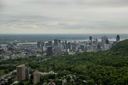 A scenic view of the Montreal skyline