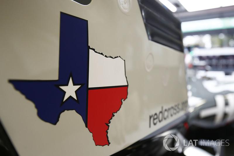 Un logotipo de Texas en el equipo de F1 Haas VF-17