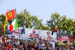 Ferrari fans show their support