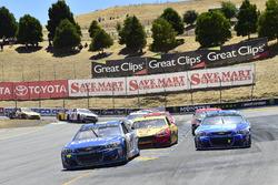Jimmie Johnson, Hendrick Motorsports Chevrolet, Kasey Kahne, Hendrick Motorsports Chevrolet, Joey Logano, Team Penske Ford