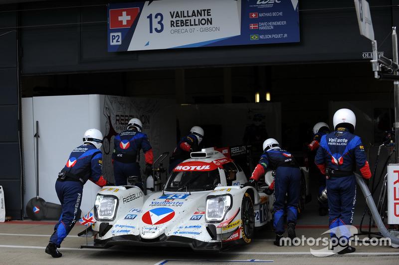 #13 Vaillante Rebellion Racing, Oreca 07 Gibson: Mathias Beche, David Heinemeier Hansson, Nelson Piquet Jr.