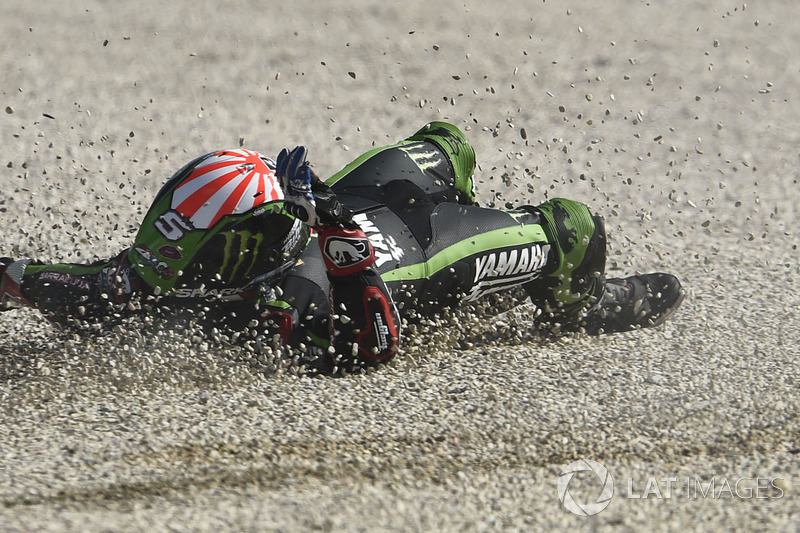 Johann Zarco, Monster Yamaha Tech 3, terjatuh