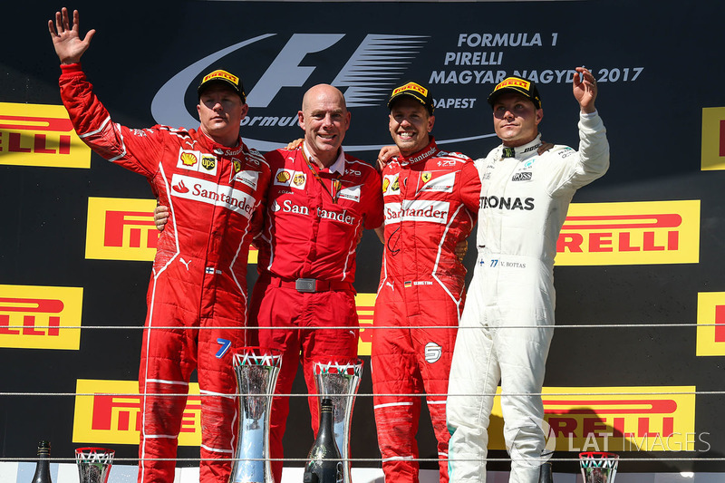 Macaristan GP - Kazanan Sebastian Vettel, 2. Kimi Raikkonen, 3. Valtteri Bottas