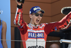 Podium : le troisième, Jorge Lorenzo, Ducati Team