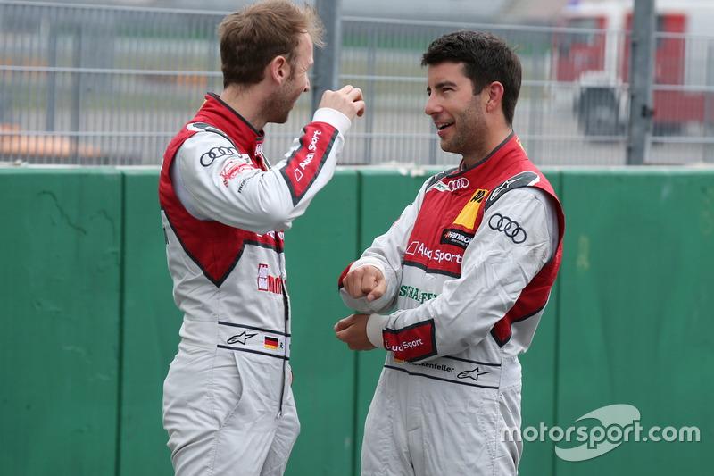 René Rast, Audi Sport Team Rosberg, Audi RS 5 DTM and Mike Rockenfeller, Audi Sport Team Phoenix, Audi RS 5 DTM