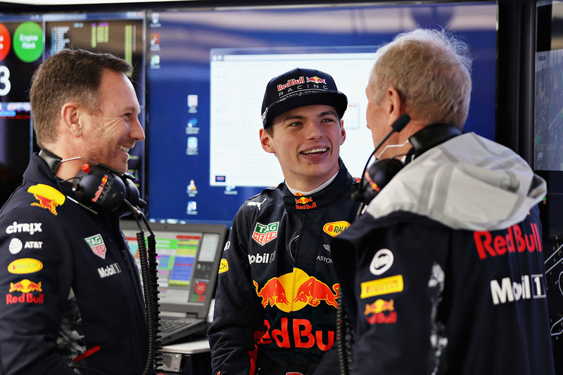 Max Verstappen, Red Bull Racing, Christian Horner, Red Bull Racing Team Principal, Dr. Helmut Marko, Red Bull Motorsport Consultant