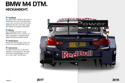Vergleich Heckansicht BMW M4 DTM
