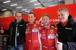 GTE Pro polesitters Davide Rigon, Sam Bird, AF Corse