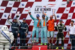 Podium LMP3: winners #1 Win Motorsport Ligier JSP3: William Lok, Davide Rizzo, second place #27 Infinity Race Engineering ADESS 03: James Winslow, Neale Munston , third place #99 TKS Ginetta LMP3: Shinyo Sano