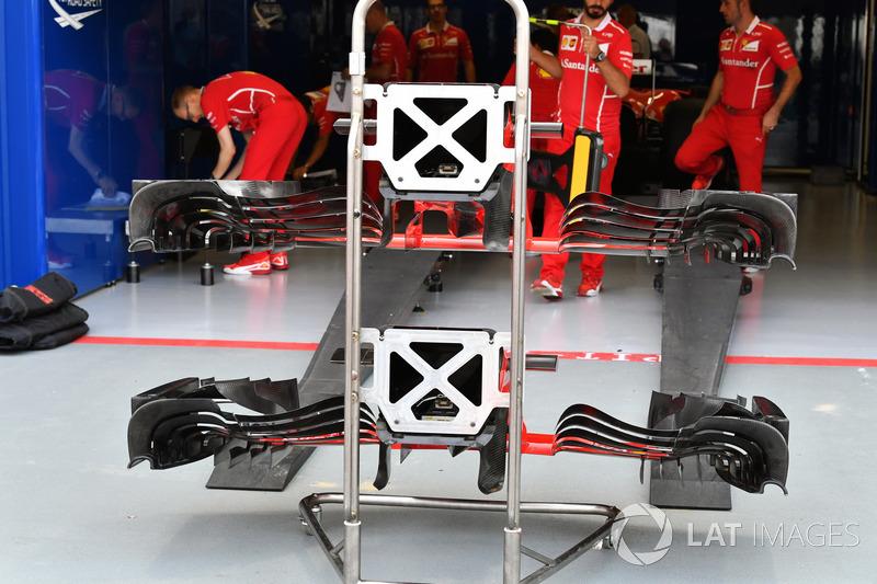 Ferrari SF70H, Nase und Frontflügel