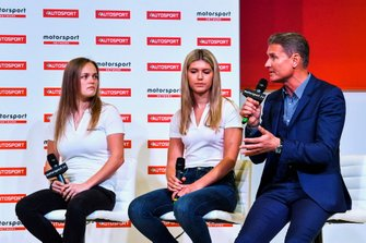 Sarah Moore, Esmee Hawkley and David Coulthard talk about W Series on stage