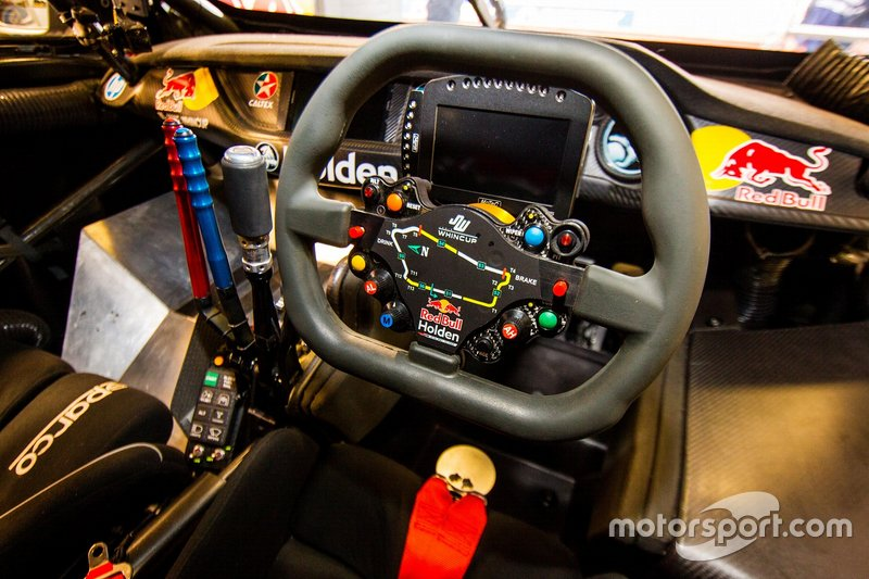 The steering wheel of Jamie Whincup, Triple Eight Race Engineering Holden
