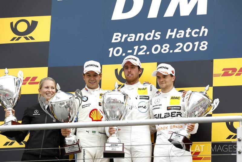 Podium: Ganador Daniel Juncadella, Mercedes-AMG Team HWA, segundo Augusto Farfus, BMW Team RMG, tercero Lucas Auer, Mercedes-AMG Team HWA
