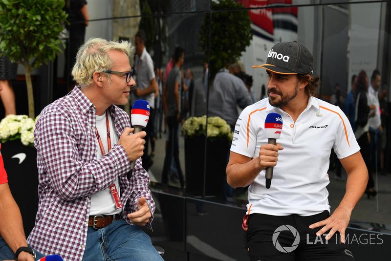 Jacques Villeneuve, Sky Italia and Fernando Alonso, McLaren