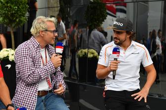 Jacques Villeneuve, Sky Italia et Fernando Alonso, McLaren