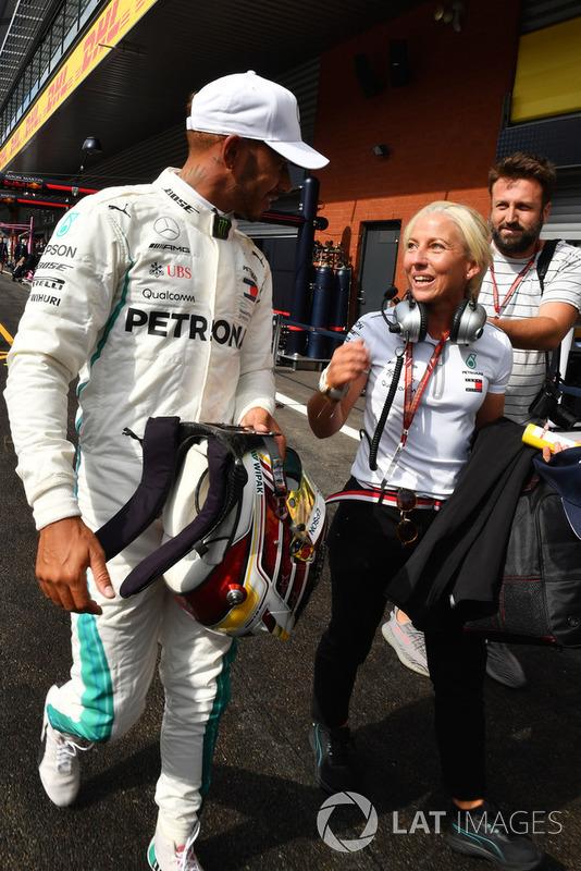 Lewis Hamilton, Mercedes AMG F1 celebrates in parc ferme ...