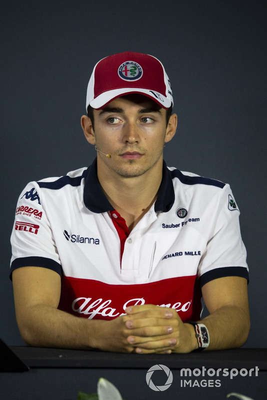 Charles Leclerc, Sauber in press conference