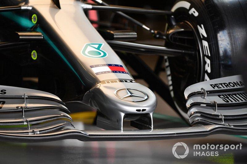 La nariz del Mercedes AMG F1 W10