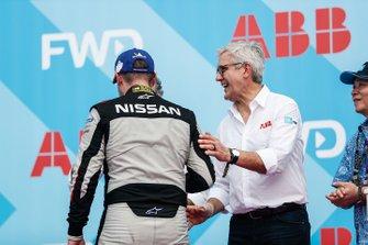 Oliver Rowland, Nissan e.Dams, on the podium
