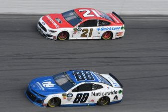 Alex Bowman, Hendrick Motorsports, Chevrolet Camaro Nationwide, Paul Menard, Wood Brothers Racing, Ford Mustang Motorcraft / Quick Lane Tire & Auto Center