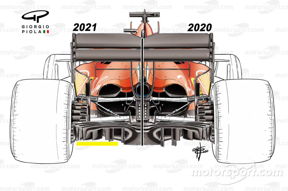 Ferrari SF1000 diffuser comparison