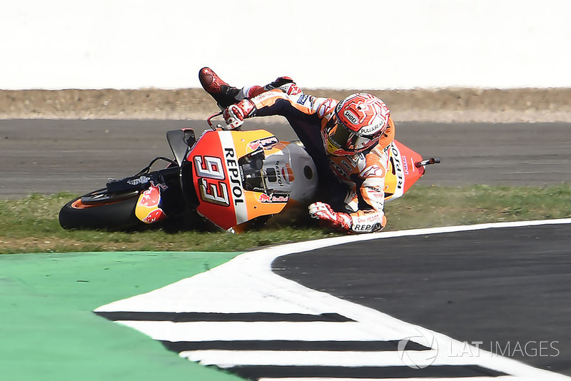 Kecelakaan lowside Marc Marquez, Repsol Honda Team