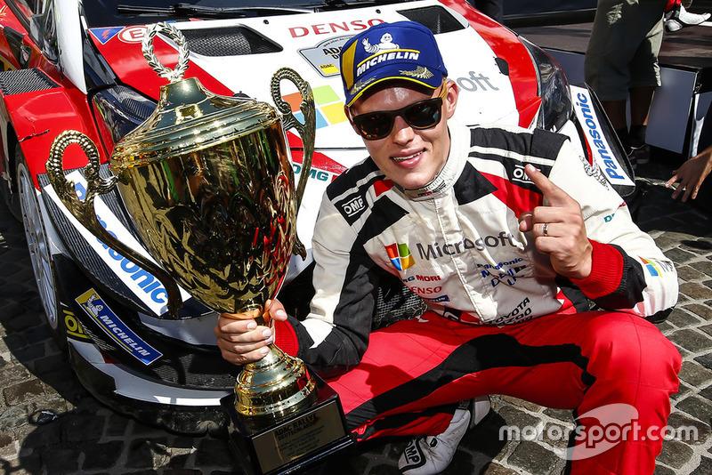 Il vincitore Ott Tanak, Toyota Yaris WRC, Toyota Gazoo Racing