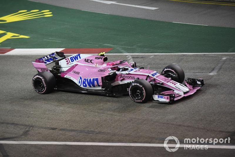 10 місце — Естебан Окон (Франція, Force India) — коефіцієнт 1001,00