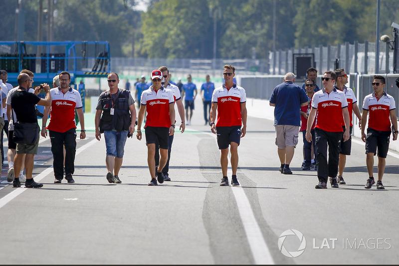 Marcus Ericsson, Sauber et ses mécaniciens