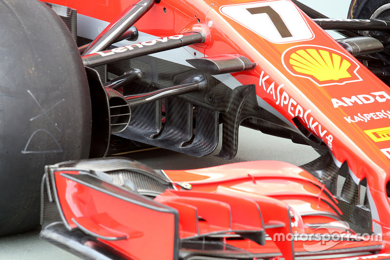 Ferrari SF71H turning vanes