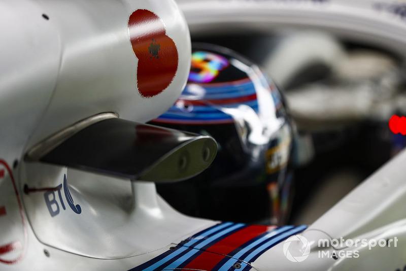 Червоний мак на боліді Ленса Стролла, Williams Racing