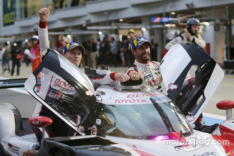Race winners #7 Toyota Gazoo Racing Toyota TS050: Mike Conway, Kamui Kobayashi, Jose Maria Lopez