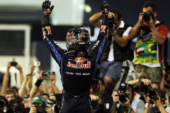 Sebastian Vettel, Red Bull Racing RB6 celebrates becoming 2010 world champion