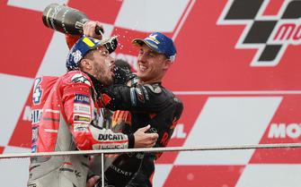 1. Andrea Dovizioso, Ducati Team, 3. Pol Espargaro, Red Bull KTM Factory Racing