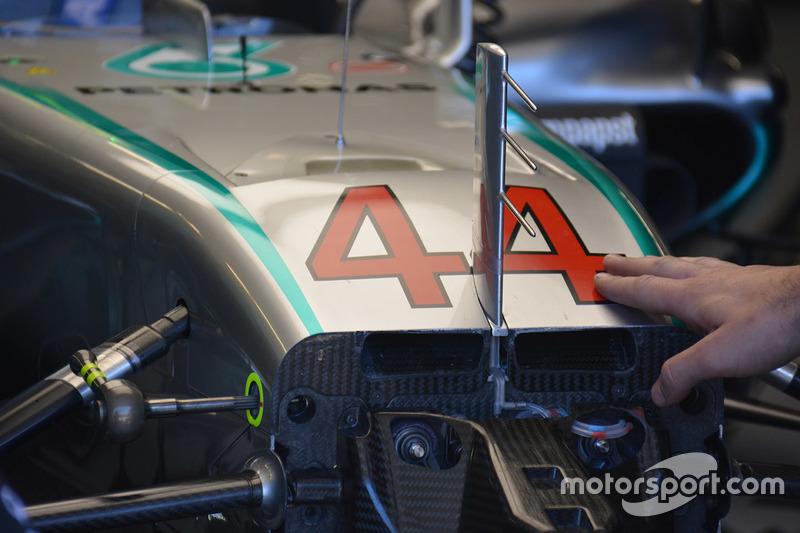 Mercedes AMG F1 W07, S-Schacht