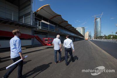 Visita oficial de la delegación de la FIA al circuito urbano de Baku City
