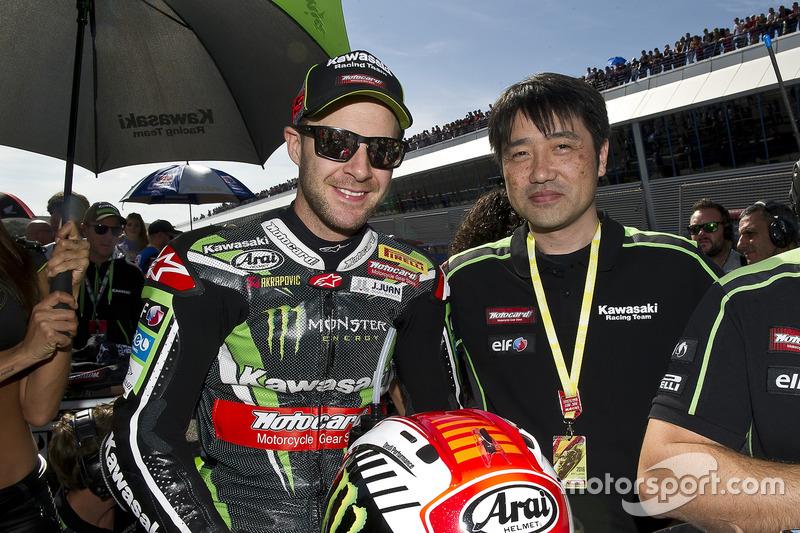 Jonathan Rea, Kawasaki Racing; Yoshimoto Matsuda