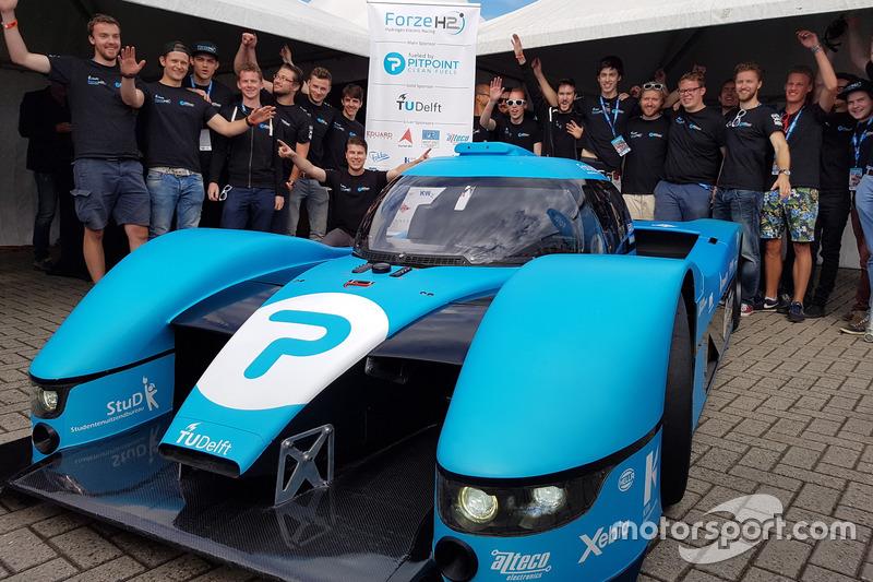 Racewagen op waterstof