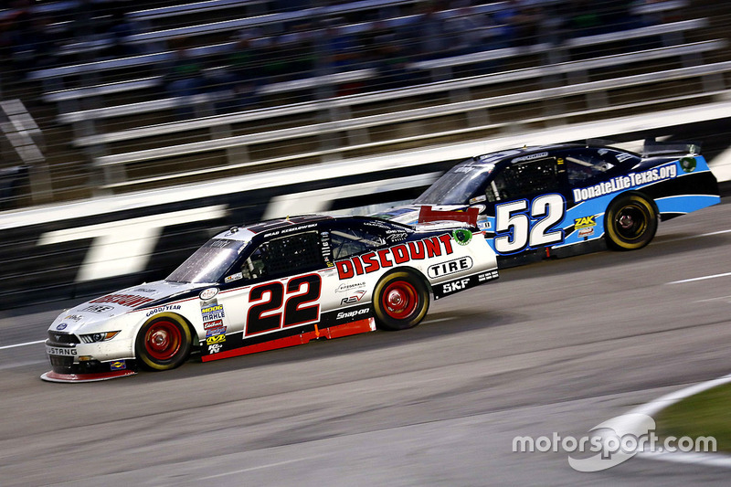 Brad Keselowski, Team Penske Ford and Joey Gase, Chevrolet