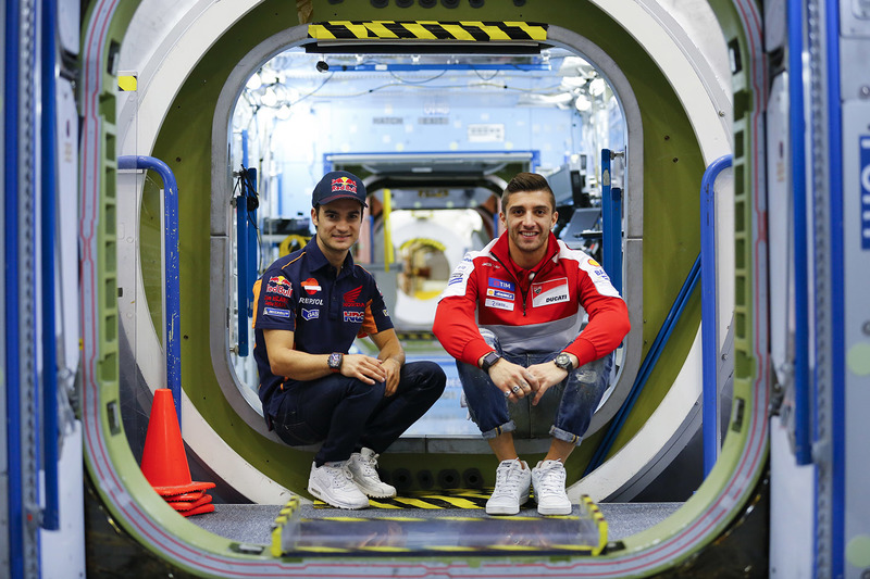 Andrea Iannone, Ducati Team, Dani Pedrosa, Repsol Honda Team visitano il NASA Johnson Space Center