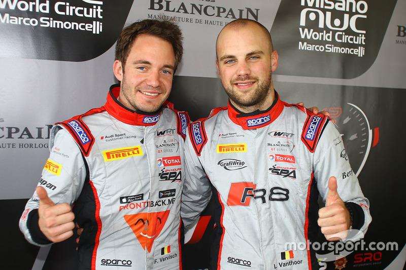 Polesitters #1 Belgian Audi Club Team WRT Audi R8 LMS: Frederic Vervisch, Laurens Vanthoor